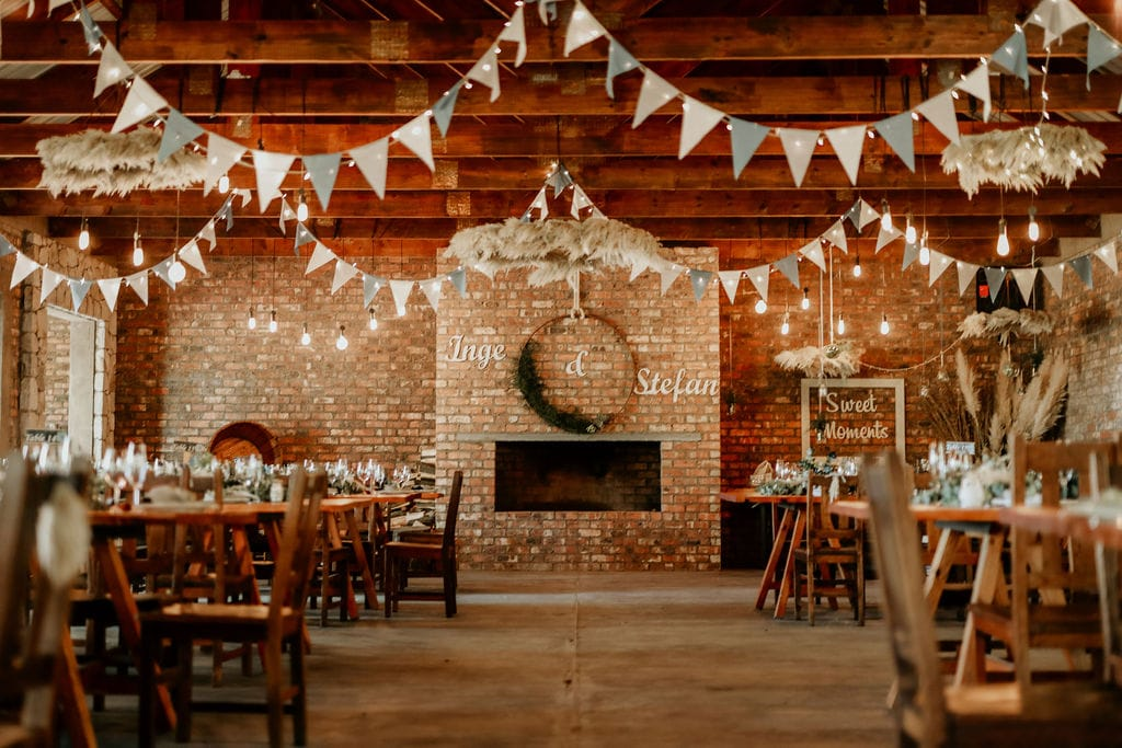 Decorated Inside Wedding Venue – Kralinbergh Estate